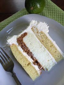 For dad! This delicious key lime pie is sandwiched between two layers of vanilla cake and topped with Lime-Infused Buttercream icing and shredded c...