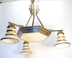 Silver Plated Art Deco Chandelier