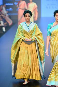 Gaurang at Lakmé Fashion Week winter/festive 2018 Anarkali Dress, Pakistani Dresses, Anarkali Suits, Cotton Anarkali, Punjabi Suits, Indian Dresses, Ethnic Outfits, Indian Outfits, Trendy Outfits