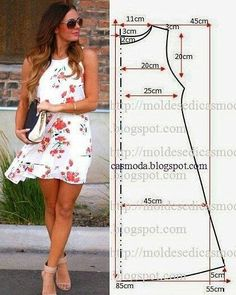 Pin by paty vizcaino on trazos para aprender - Crochetfornovices. - Best Sewing Tips Easy Sewing Patterns, Clothing Patterns, Dress Patterns, Pattern Dress, Fashion Sewing, Diy Fashion, Womens Fashion, Moda Fashion, Sewing Clothes