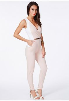 Silveria Belted Jumpsuit - Jumpsuits & Playsuits - Jumpsuits - Missguided
