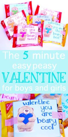 Easy and quick to make! Free Bear Valentine Printable! What is cuter than a cuddly teddy bear to say Happy Valentine's Day??