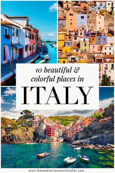 10 Colorful Places in Italy. Italians certainly have a knack for creating beautiful and colourful architecture that sits in harmony with its surroundings. Give your camera a workout with these 10 impossibly beautiful colourful towns and villages in Italy. #italy #travel #europe #mediterranean #tmtb Things To Do In Italy, Places In Italy, Italy Travel Tips, Travel Europe, Travel Destinations, Southern Europe, Where To Go, Travel Guides, Family Travel