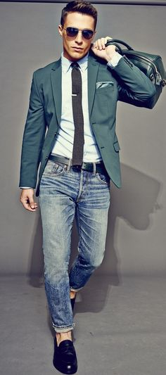 Smart Casual Look: Jeans and a Blazer