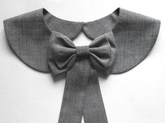 Casual Office Gray Collar Necklace / Black and White by BlumArt, $39.99