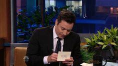 Jimmy Fallon writes hilarious note to Jay Leno