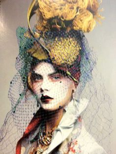 ☫ A Veiled Tale ☫ wedding, artistic and couture veil inspiration - Paolo Roversi for Christian Dior | John Galliano | Vogue Italia