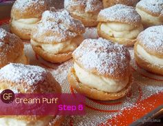Blissfullicious: May I tempt you with GF Cream puffs? -not sure if the pudding mix GF? Well have to check that.but this looks sooo good! May I, Gluten Free, Pudding, Cream, Cooking, Sweet, Recipes, Food, Glutenfree