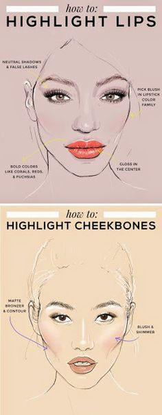 How to Highlight Lips & Cheekbones - Prom Tips
