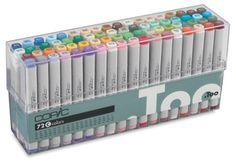 Original Markers, Set C of 72 Colors, Flesh Tones