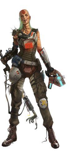Ferani Nadaz, Human Outlaw Mechanic - Starfinder RPG (Dead Suns 1 Art)