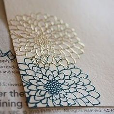 """Love the effect! Embossing on Paper Tutorial at Food, Wine, & Mod Podge """"I was at my birthday dinner last night, and I got called out by a..."""