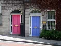 Dublin, Ireland — by Chloe Albin. I can never get enough of the bright doors of Dublin. Book Of Kells, Georgian Doors, Door Picture, Purple Door, Pink Purple, Next Door, Closed Doors, Windows And Doors, Front Doors