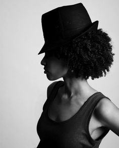 Curls topped with hat