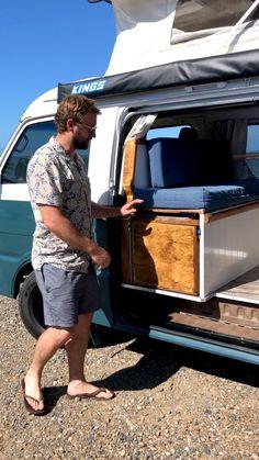 Kombi Motorhome, T4 Camper, Build A Camper Van, Mini Camper, Camper Life, Truck Camper, Small Camper Vans, Campervan, Minivan Camping