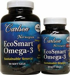 Carlson Labs Ecosmart Omega Mineral Supplement Softgels, 120 Count by Carlson. $19.03. Made from a highly sustainable species of clamari. Promotes brain, vision and cardiovascular health. Carlson ecosmart omega-3 is a product that is made from highly sustainable species of calamari. Also available as a lemon-flavored liquid. This is a certified friend of the sea product.. Save 24%! Seafood Meals, Seafood Recipes, Sustainable Seafood, Cardiovascular Health, Calamari, Omega 3, Labs, Mineral, Count