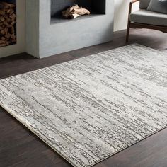 Greyleigh Bridgeton Distressed Modern Abstract Gray/Cream Area Rug Rug Size: Rectangle x Cream Area Rug, Blue Area Rugs, Small Area Rugs, Modern Decor, Modern Design, Design Elements, Modern Area Rugs, Rug Cleaning, Online Home Decor Stores