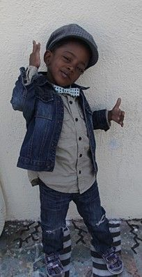 kids with swag... this is my little cousin. crazy!