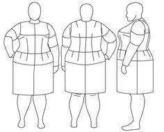 Plus Size Fashion Croquis Templates | Blog Adoro!: Croquis Plus Size!