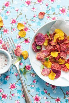 These beet chips look surprisingly floral