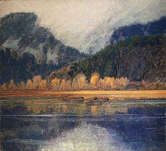 "George Carlson |Rising Mist,  42x46"" oil on linen"