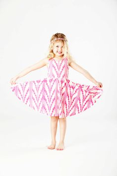 e80cf4922 Southwest Twirling Dress in Hot Pink on Creme. $46.00, via Etsy. Let Them