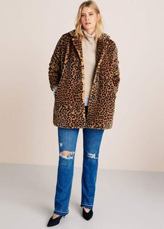 197c54829d68 Animal print faux fur coat - Plus Size Animal Print Outfits, Animal Print  Fashion,