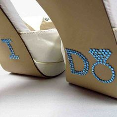 Blue Diamond Ring I Do Wedding Shoe Stickers - Rhinestone I Do Shoe Decals for your Bridal Shoes - Bling Shoe Appliques from RegalRhinestones on Etsy. Perfect Wedding, Dream Wedding, Wedding Day, Wedding Stuff, Wedding Photos, Wedding Timeline, Wedding Shit, Bling Wedding, Wedding Heels