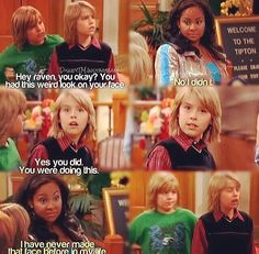 The Suite Life of Zack and Cody. This episode was so exiting cause they did a mash up between THATS  SO RAVEN, HANNAH MONTANA AND THE SUITE LIFE.