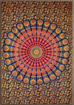An extremely detailed and trippy tapestry with a mosaic swirl flowers that is sure to keep you staring for hours. A perfect representation of