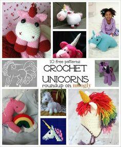 Crochet unicorns. Free patterns.