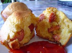 Easy and Quick Corn Dog Muffins from Food.com:   								Kids will love these! These taste just like corn dogs, but healthier since they are baked, not fried. Put them on a plate with some ketchup. Great on a picnic too!