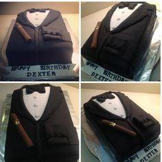 Tuxedo and Cigar Cake - SEXY CAKE!!