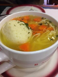 Ben's Best - Rego Park, NY, United States. Matzoh ball soup