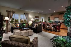 LivingSmart Homes Canyon Hills  Plan 3 Living Room  #home