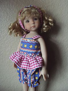 I-LOVE-AMERICA-ROMPER-SET-FOR-EFFNERS-LITTLE-DARLING-14-BETSY-BY-CGREYROMA. Sold for $20.75 on 5/3/14.