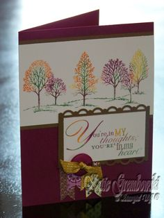Stampin' Up! Lovely as a Tree fall colors