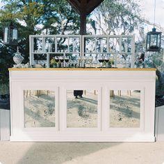 Ooh! Events Rentals Mirror Raised Panel Bar   Creative wedding planning and event rentals in Charleston, SC and Beaufort, Bluffton, Savannah, Debordieu, Litchfield