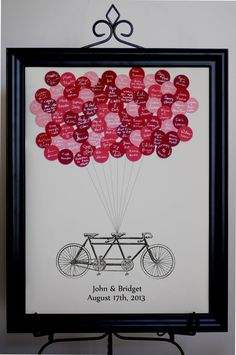 NEW!  Wedding Guest Book Balloons Tandem Bike
