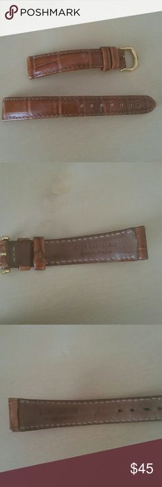 Longines Watch Band / Strap Genuine leather Will fit most size 16 watches  This was on my older model Cartier Tank  watch, and I swapped it out for another size 16 band, which fit perfectly  This band is in great condition Longines Accessories Watches