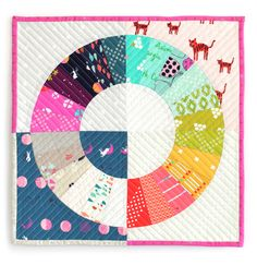 Mini swap quilt by Summer Little for Cotton + Steel fabrics