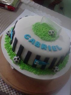 Bolo de 1 aninho do Gabriel de futebol