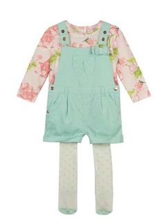 d3d795d82c783b Ted Baker Baby Girls Outfit T Shirt Shorts Tights Newborn Gift 0-3 Months  Shorts