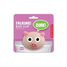 Talking Pig Bag Clips - Set of 3 Chip Clips - Oink when Opened