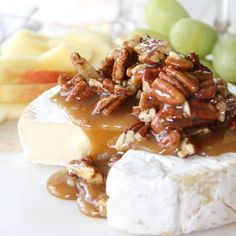 Make this simple & delicious Honey Nut Brie Appetizer for your next party! Have it prepared and on the appetizer table in about 15 minutes!