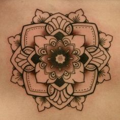 Mandala tattoo by Tina