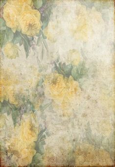 Vintage Shabby Grunge Yellow Flowers Photography Backdrop GA-55 – Dbackdrop