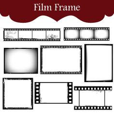 Rustic Film Strip Frames Digital Scrapbooking, Scrapbooking Layouts, Movie Themes, Party Themes, Foto Fun, Movie Night Party, Hollywood Theme, Film Strip, Paper Crafts