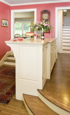 Gallery Page 4 | Crown Point Cabinetry  step down kitchen to family room bar