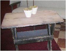 Sawbuck Dry Scrubtop Side Table-sawbuck side table nightstand